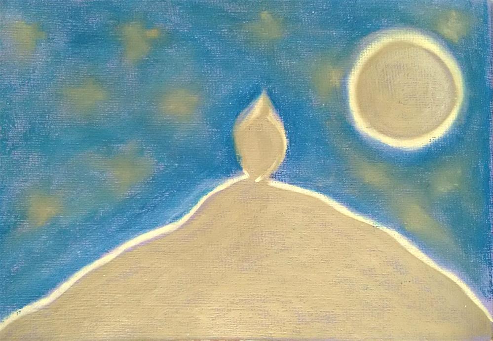 """""""Beloved Mountain"""" original fine art by Adéla Svobodová"""