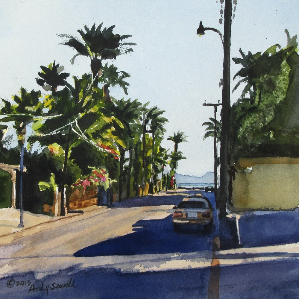 """Streets of Loreto"" original fine art by Andy Sewell"
