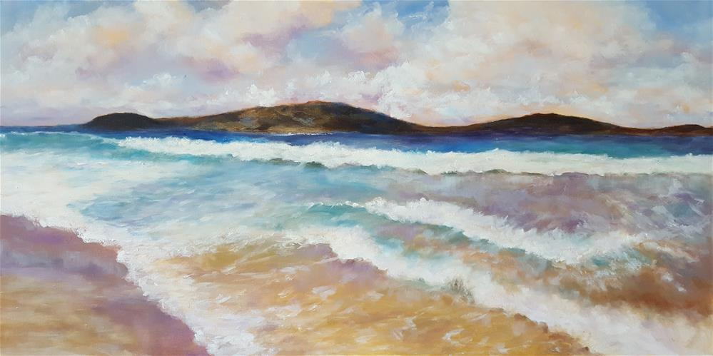 """Zoni Beach"" original fine art by Mary Magee"
