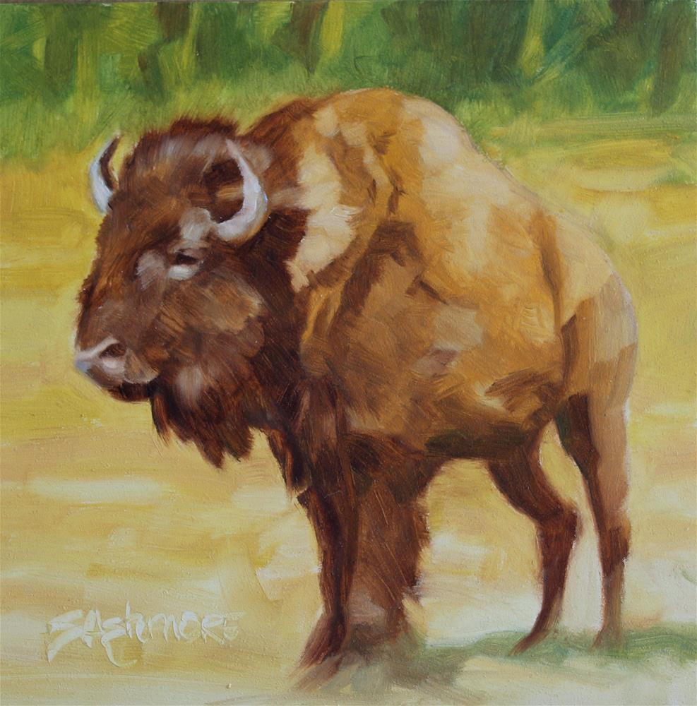 """''Buffalo Love''"" original fine art by Susan Ashmore"
