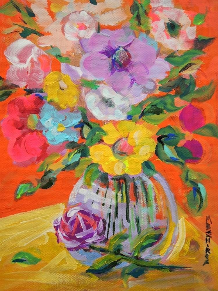 """Spring Bouquet"" original fine art by Mary Schiros"