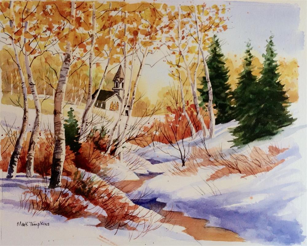 """Early Snow Fall"" original fine art by Mark Tompkins"