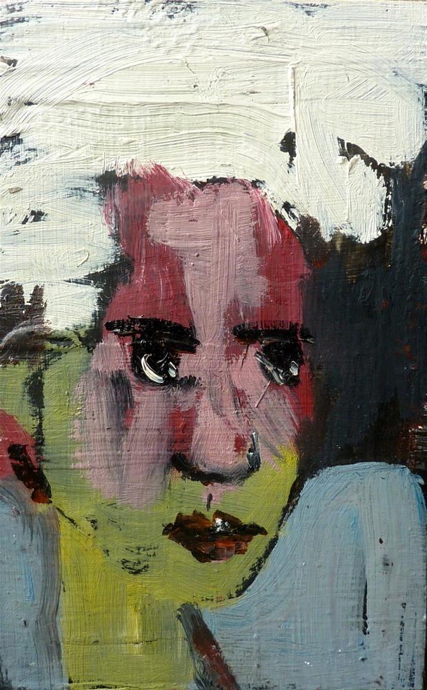 """GIRL - Portrait 3"" original fine art by Mila Plaickner"