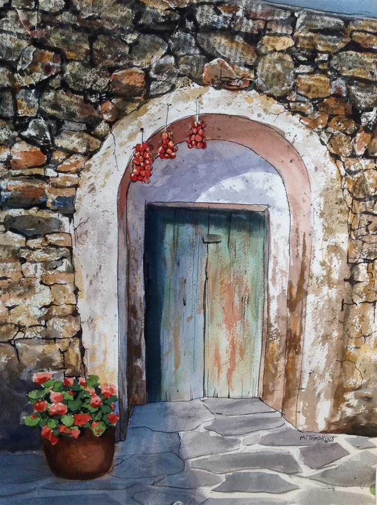 """Spanish Door"" original fine art by Mark Tompkins"