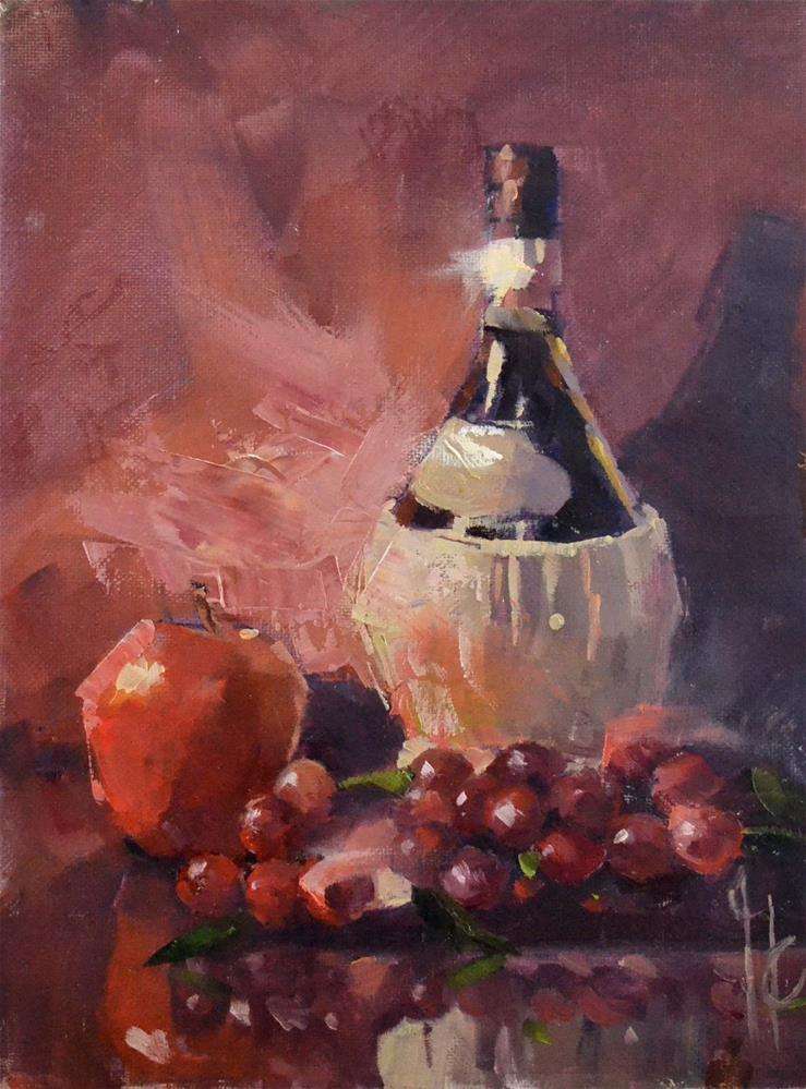 """Wine and Fruit"" original fine art by Garry Colby"