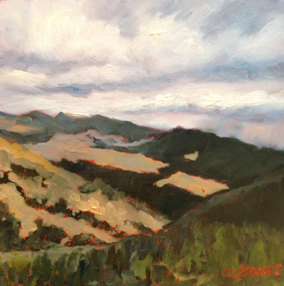 """Cloud Patterns on the Mountain"" original fine art by Claudia L Brookes"