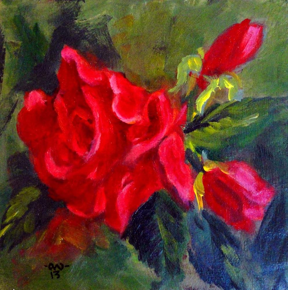 """Last Red Roses (Final Version)"" original fine art by Cietha Wilson"