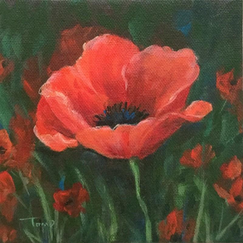 """Red Poppy"" original fine art by Torrie Smiley"