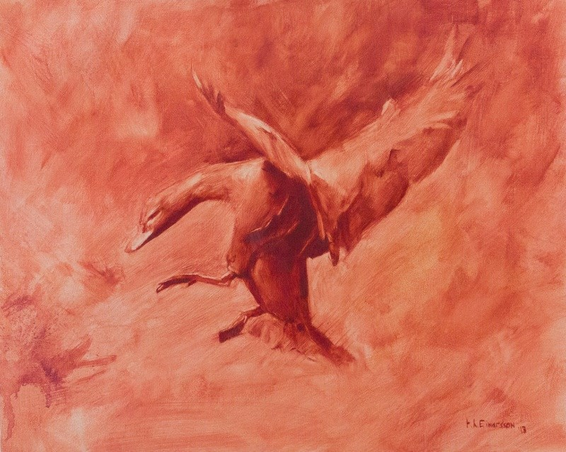 """Flight ll"" original fine art by Thorgrimur Andri Einarsson"