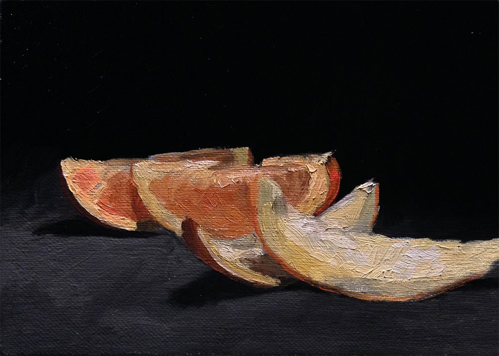 """Orange Slices On Black"" original fine art by Chris Beaven"