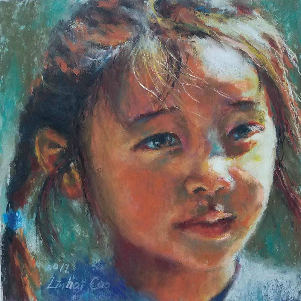 """""""Summer breeze"""" original fine art by Linhai Cao"""
