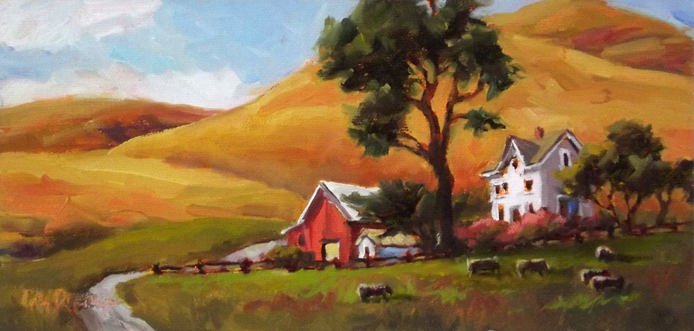"""Coastal Ranch"" original fine art by Erin Dertner"