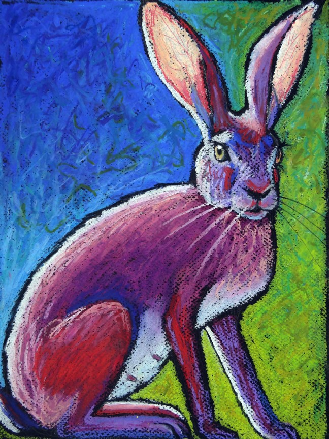 """Red Hot Jackrabbit Mama"" original fine art by Ande Hall"