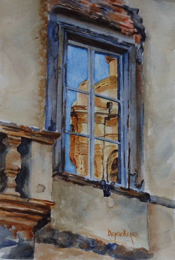 """Reflections in Italy"" original fine art by Denise Beard"