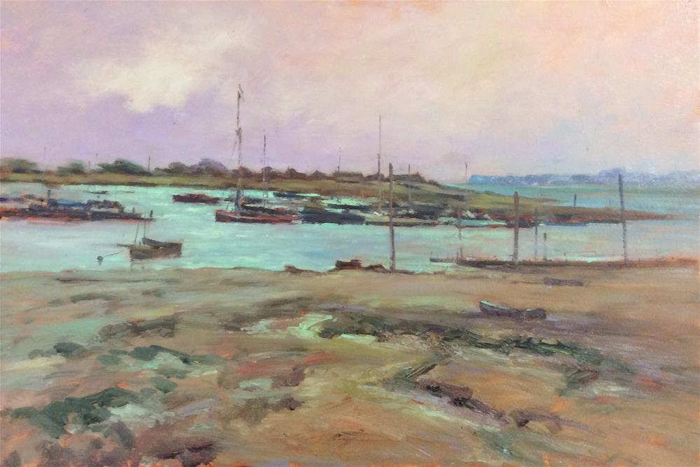"""Midday Brightlingsea"" original fine art by John Shave"