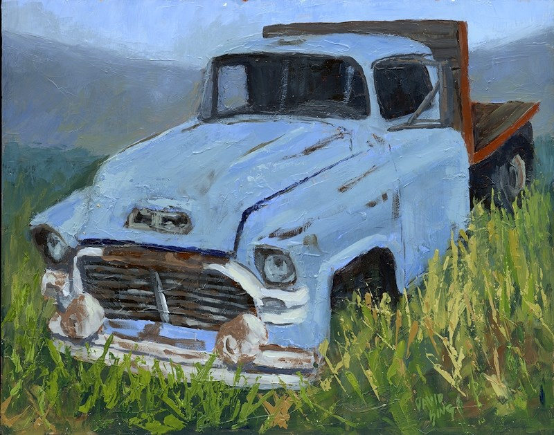 """'Ol Blue"" original fine art by David King"