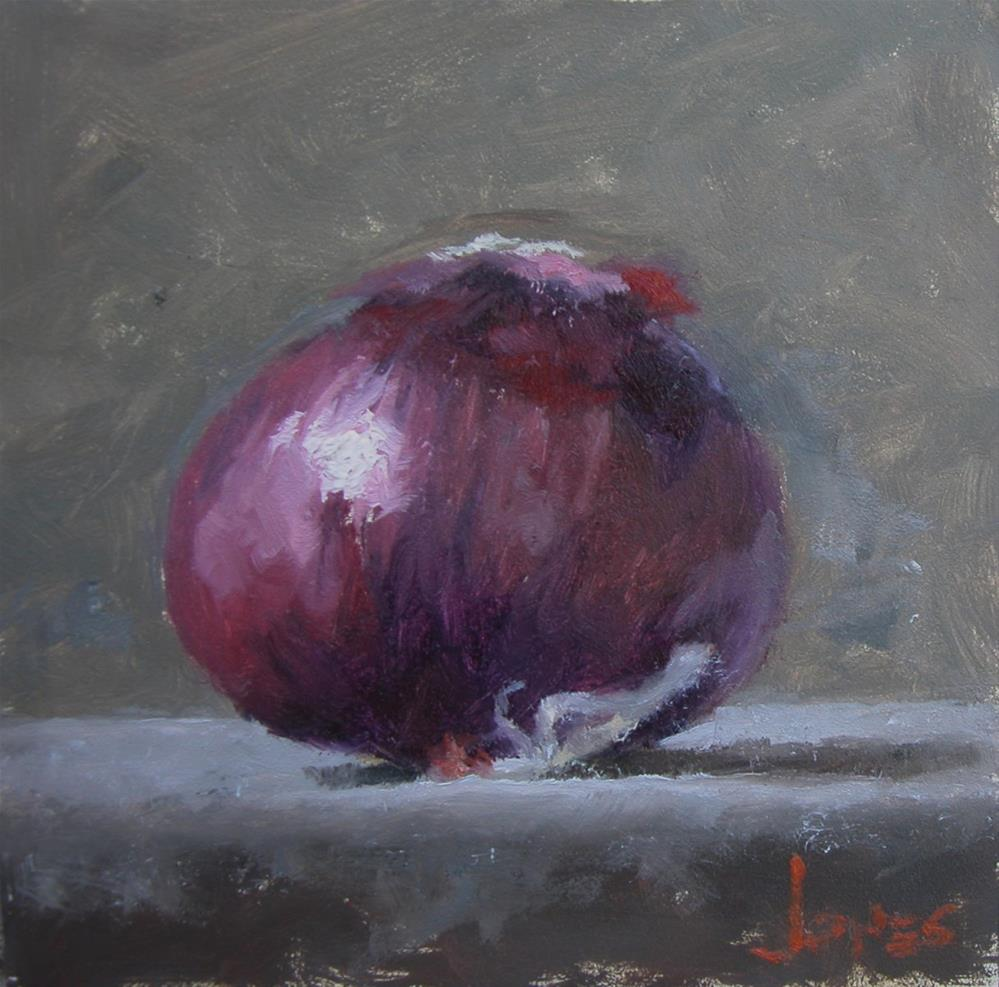 """Red Onion"" original fine art by Richard Jones"