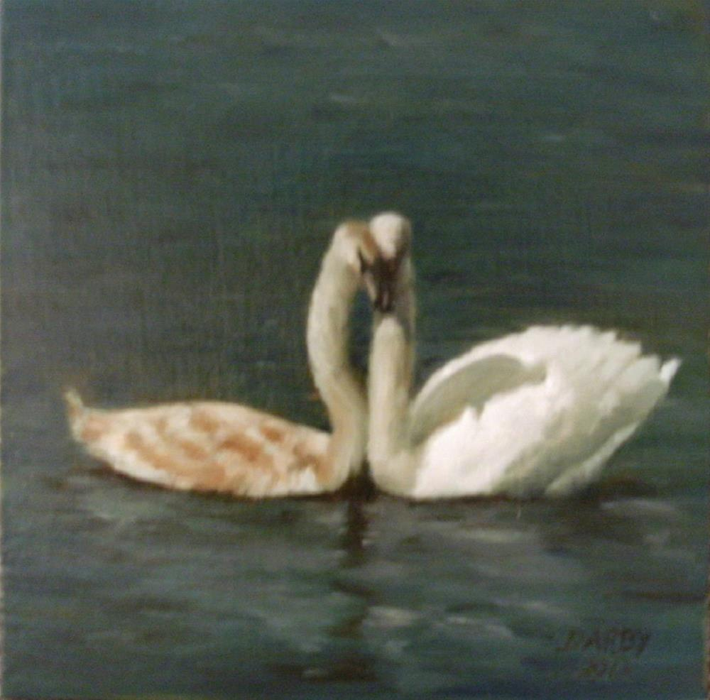 """The Happy Couple"" original fine art by Lynn Darby"