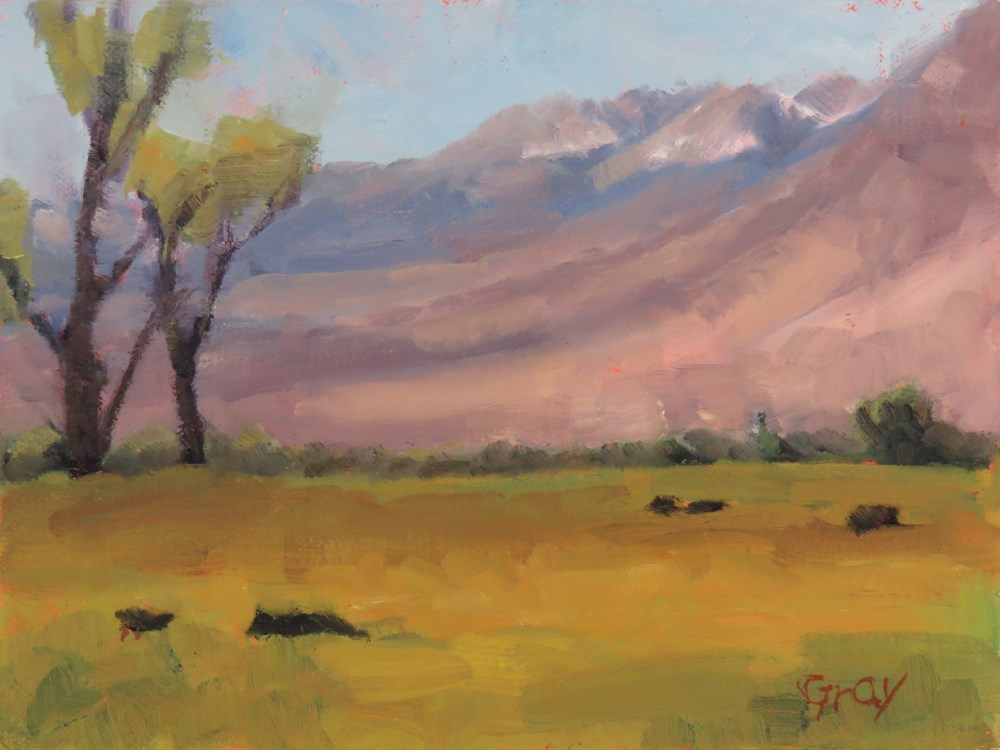 """Sierras from Round Valley"" original fine art by Naomi Gray"