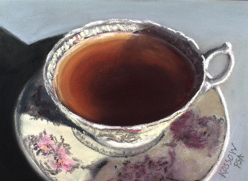 """""""No Name Teacup"""" original fine art by Cristine Kossow"""