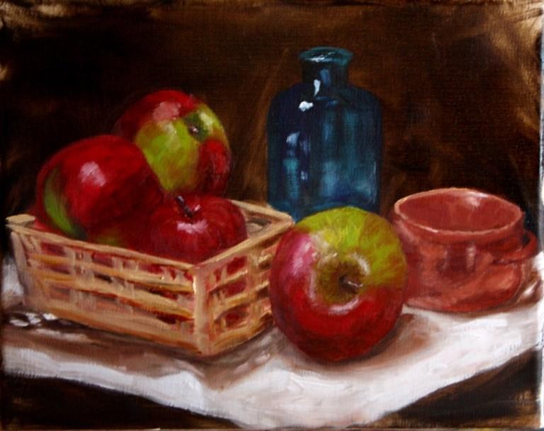 """Apple Basket"" original fine art by Mary Datum"