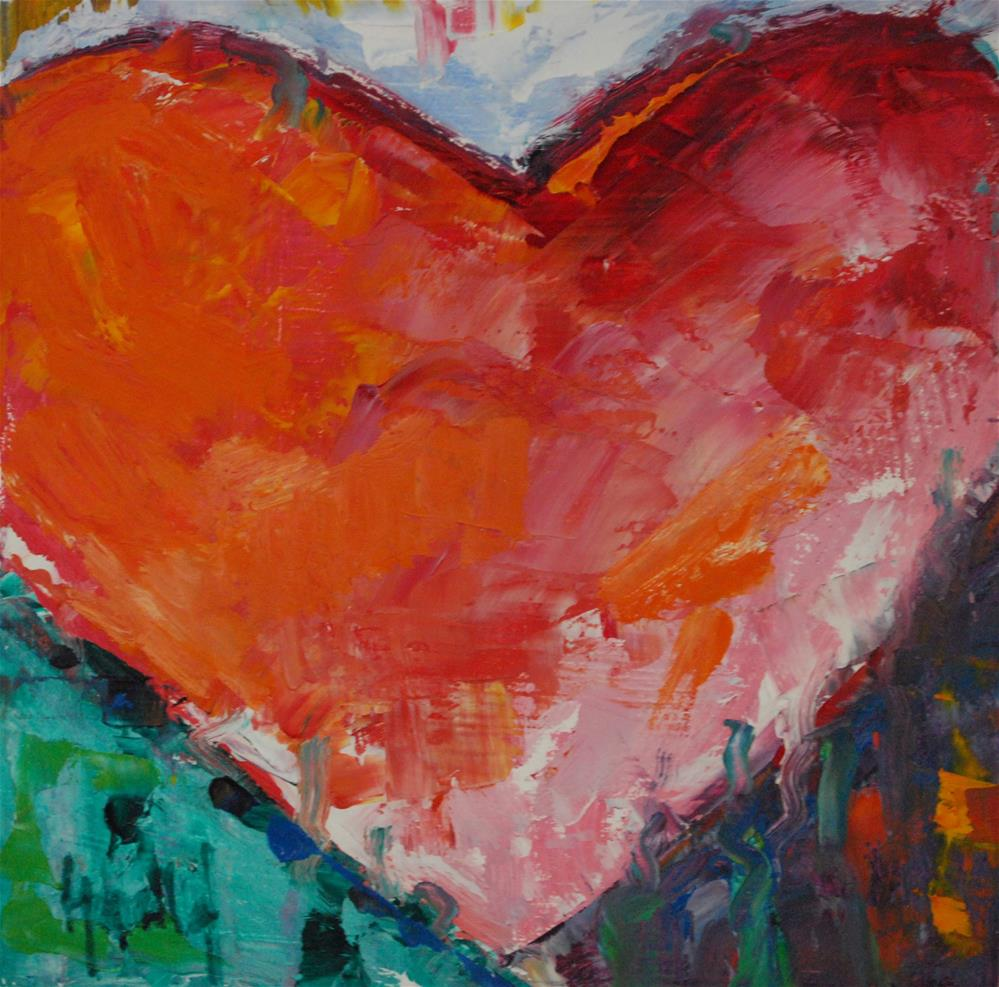 """New Year Love"" original fine art by Deborah Harold"