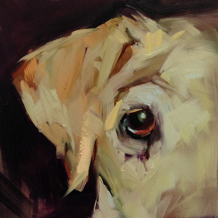 """""""E is for Eye (and Ear)"""" original fine art by Patti McNutt"""