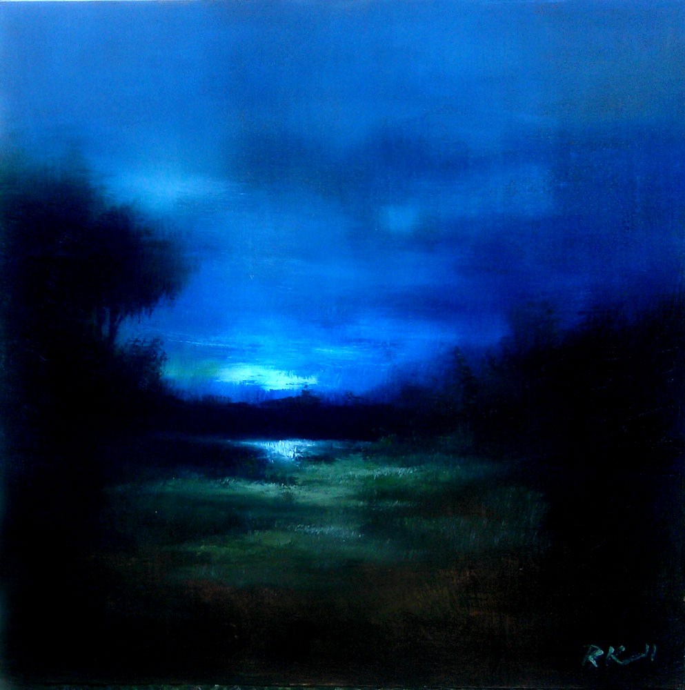 """Distant Lake"" original fine art by Bob Kimball"