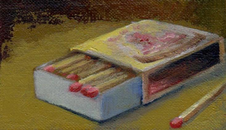 """Matchbox"" original fine art by V. DeBak"