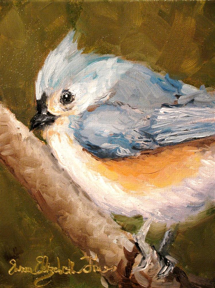 """Tufted Titmouse"" original fine art by Susan Elizabeth Jones"