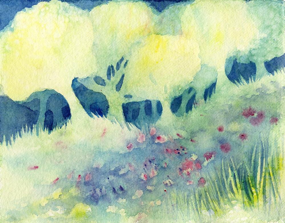 """Springtide Study"" original fine art by Leslie Redhead"