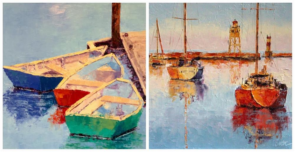 """""""Using Collages to Sell More Paintings"""" original fine art by Leslie Saeta"""