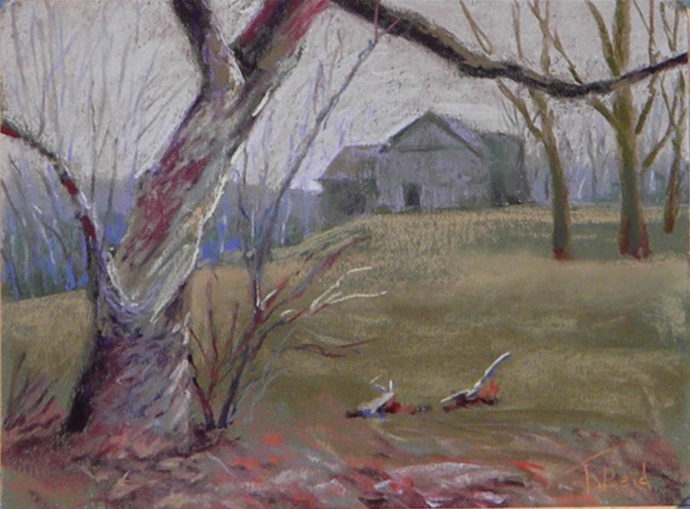 """House on the ridge"" original fine art by Toby Reid"