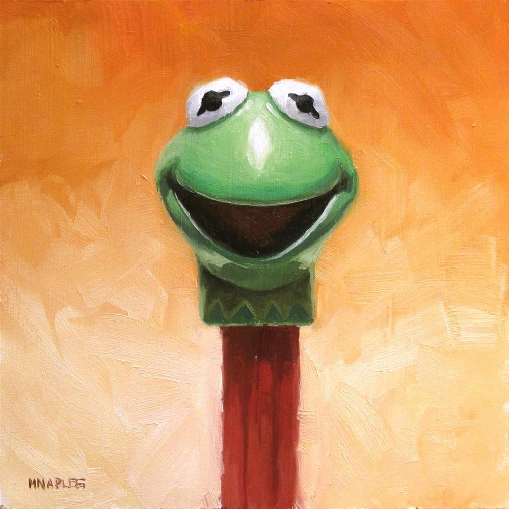 """""""Pez Kermit"""" original fine art by Michael Naples"""