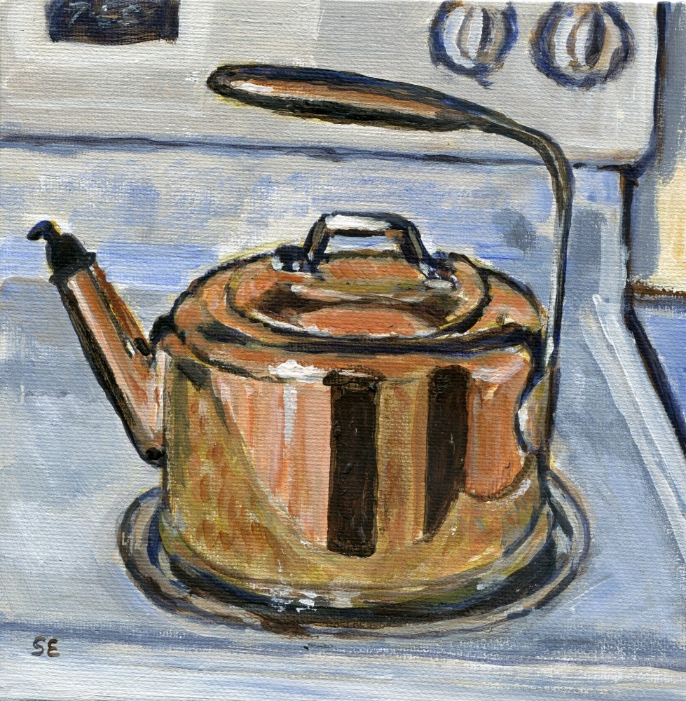 """Tea Pot"" original fine art by Stanley Epperson"