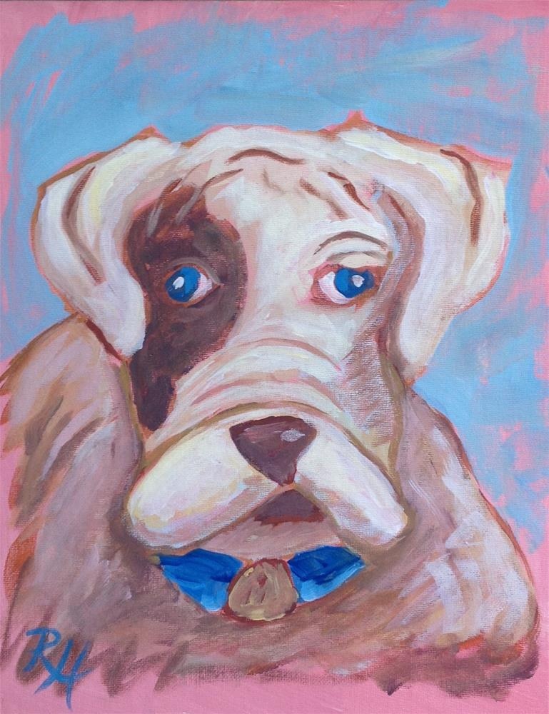 """Playful Pup"" original fine art by Rachel  Holland"