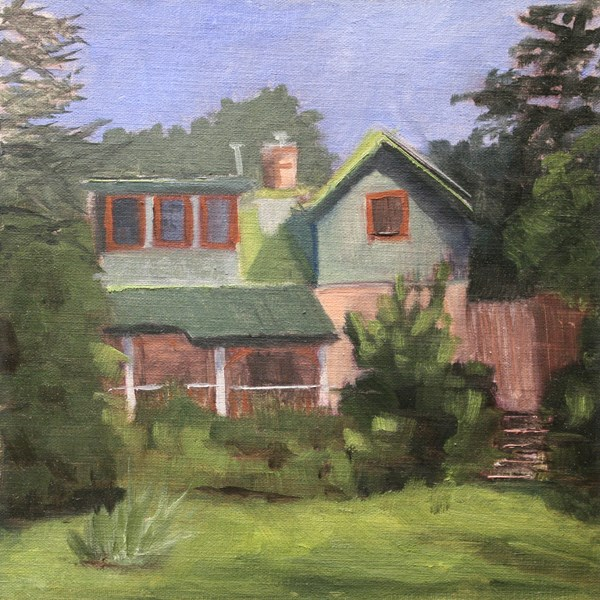 """The Coe House, Durango CO"" original fine art by Jane Frederick"