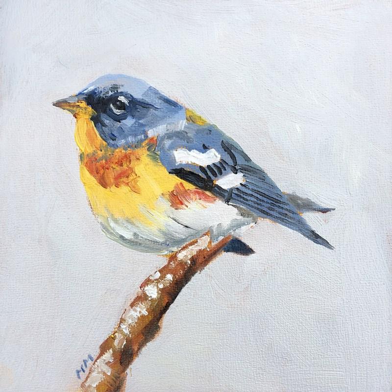 """Northern Parula Warbler"" original fine art by Maria McNitt"