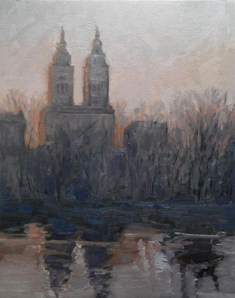 """Dusk at Central Park"" original fine art by Lisa Kyle"