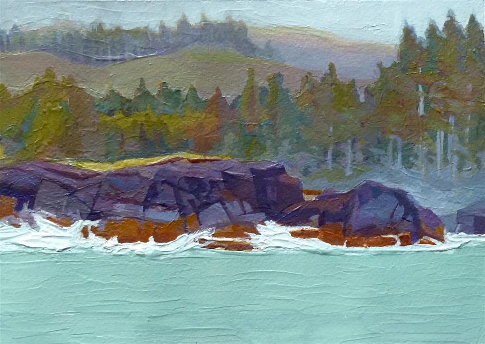"""Depoe Bay Mist"" original fine art by Mark Allison"