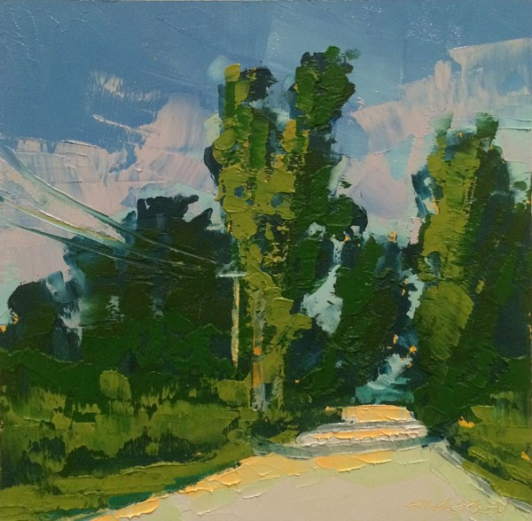 """High Summer Greens"" original fine art by Mary Gilkerson"