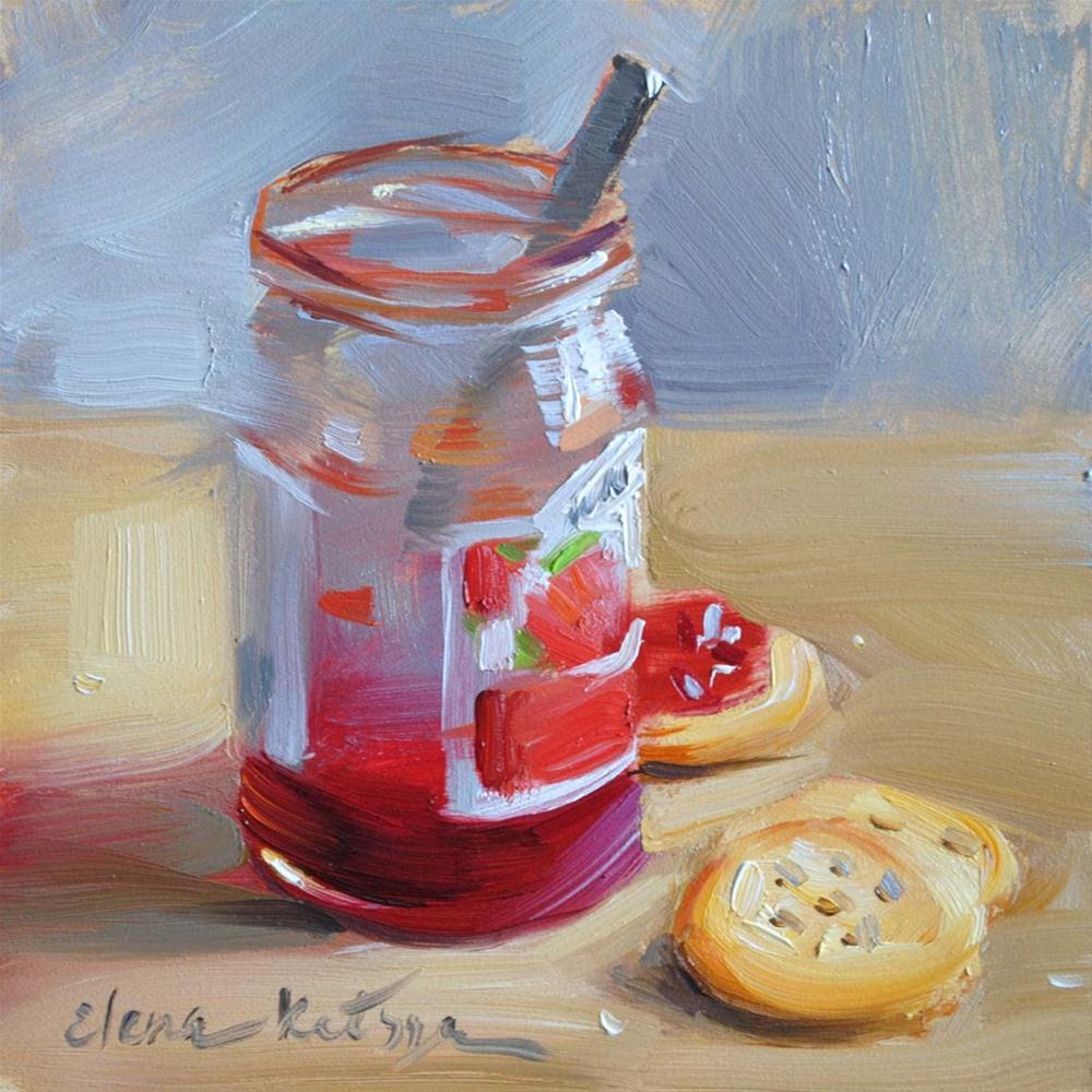 """Cherry Jam"" original fine art by Elena Katsyura"