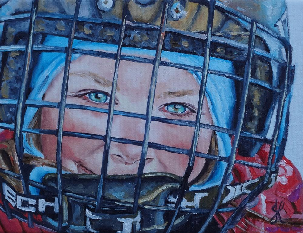 """Hockey Girl"" original fine art by Jacinthe Rivard"