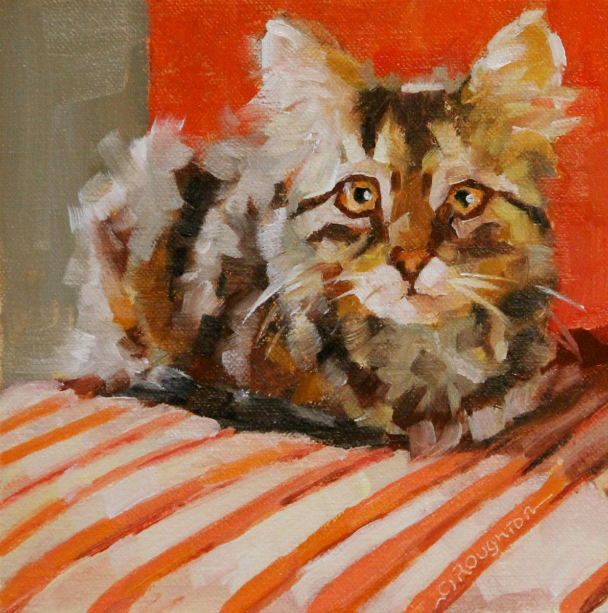 """The Whole Kitty Challenge"" original fine art by C J Roughton"