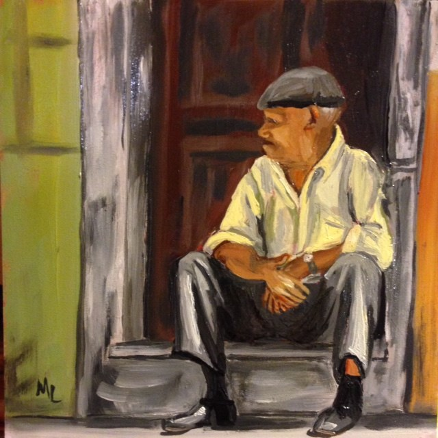 """Waiting"" original fine art by Marjie Laizure"