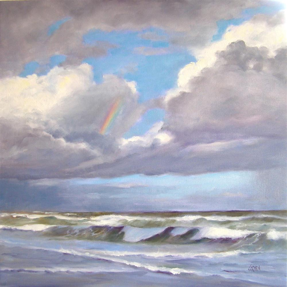 """And God Set a Bow in the Sky, 20x20 Oil on Canvas"" original fine art by Carmen Beecher"