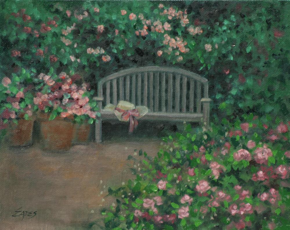 """Rose Garden"" original fine art by Linda Eades Blackburn"