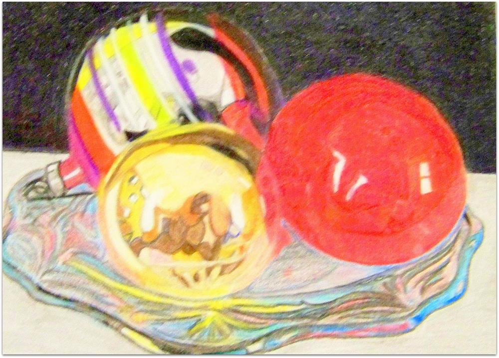 """Plated Ornaments"" original fine art by Elaine Shortall"