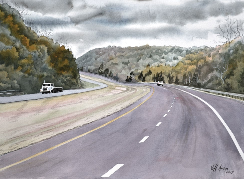 """Lonely Road"" original fine art by Jeff Atnip"