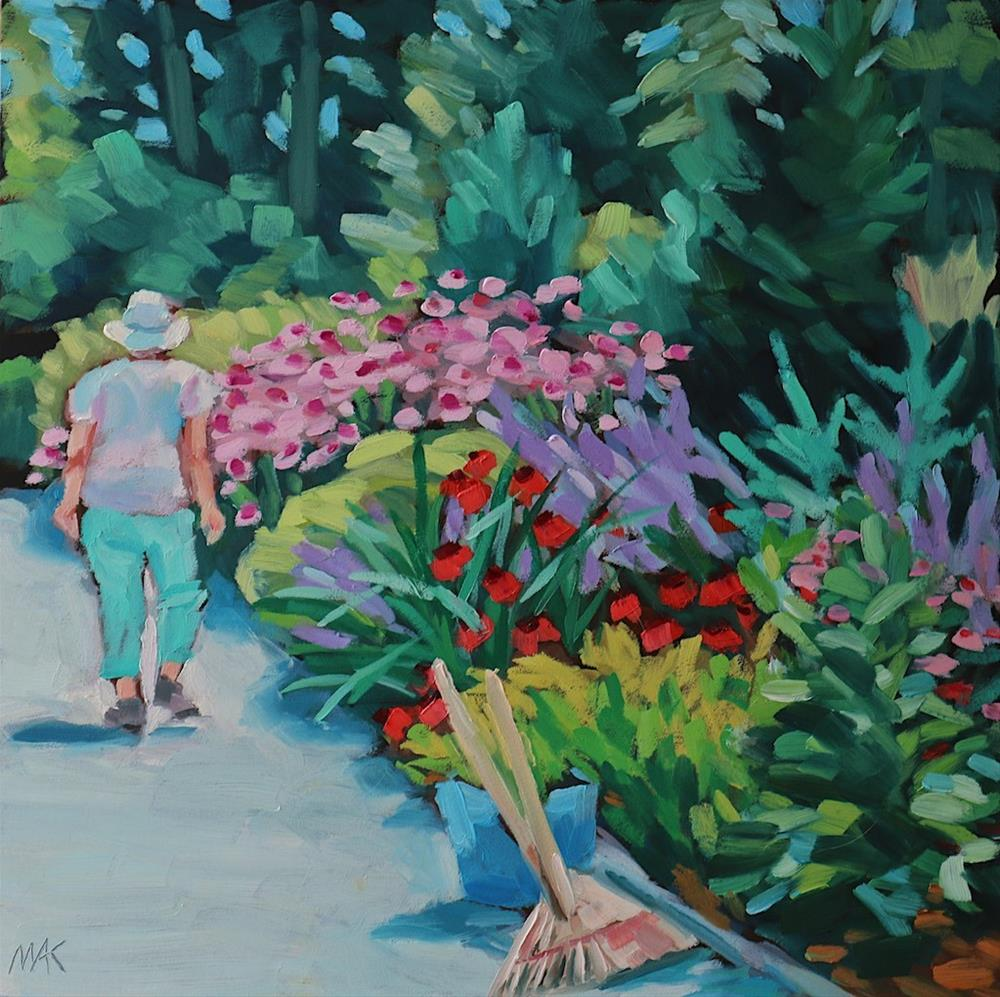 """Garden Walk"" original fine art by Mary Anne Cary"